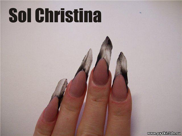 наращивание ногтей форма edge