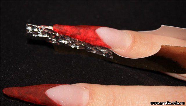 хрустальное наращивание ногтей