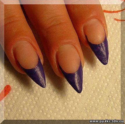 фиолетовый френч фото