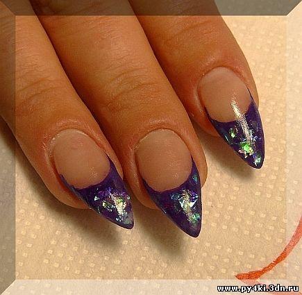 фиолетовый френч
