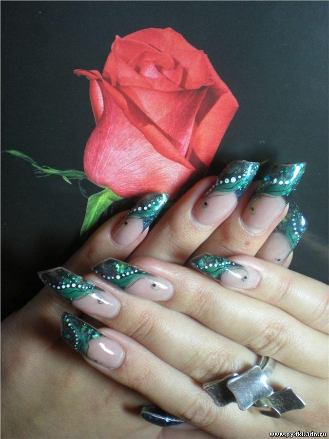фото красивый дизайн для скошенных ногтей слет любителей