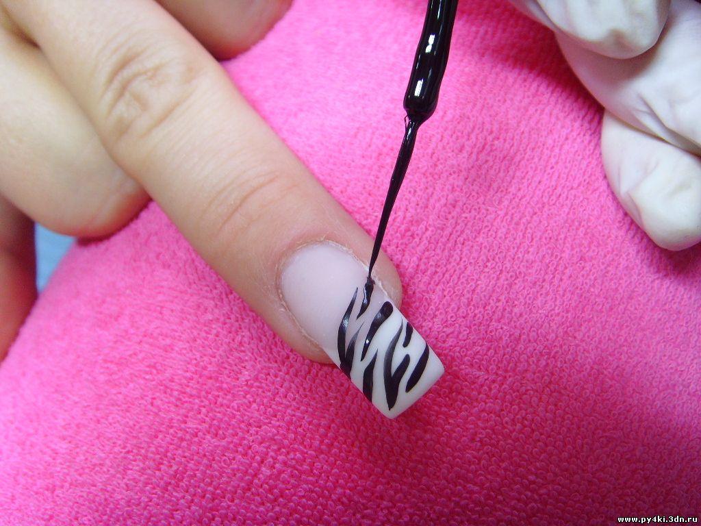 зебра ногти фото