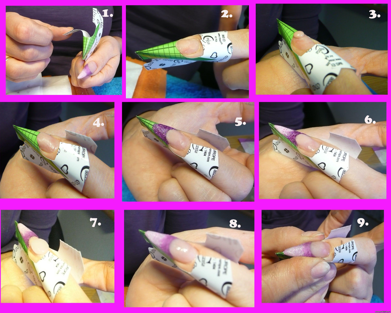 Наращивание ногтей пошаговое фото