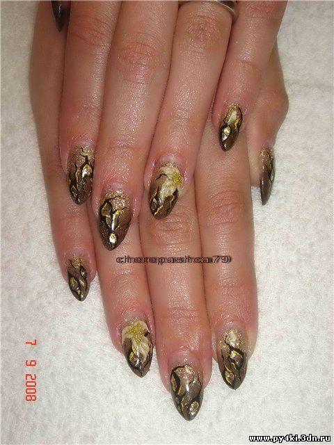 дизайн ногтей осень 2011