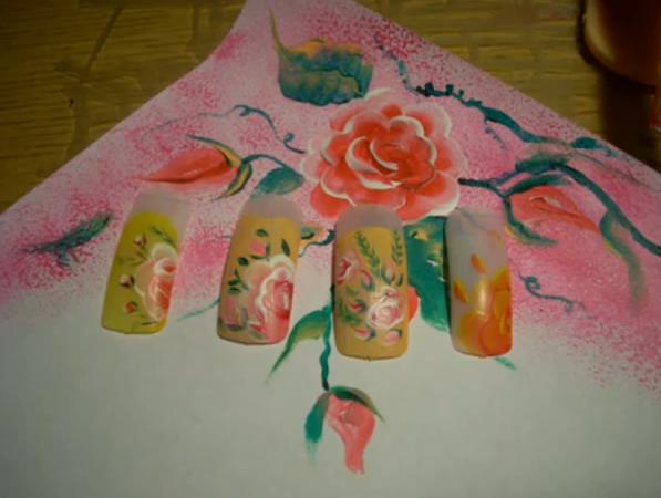 Роспись на ногтях для начинающих