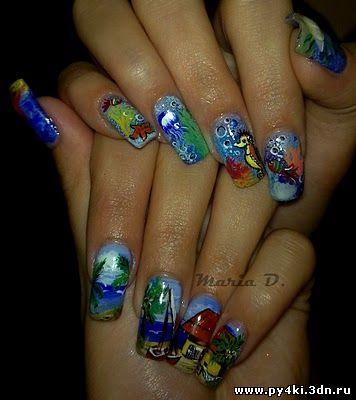 Красочный летний дизайн ногтей