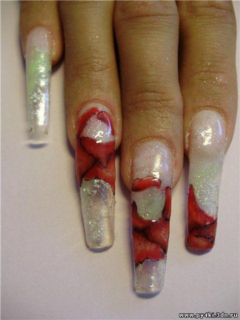фото дизайна ногтей цветными гелями: