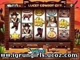 Флеш-Игры Онлайн игра Однорукий бандит (игровые автоматы) Lucky Cowboy City