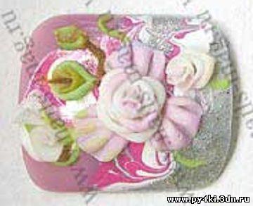 лепка ногти цветы