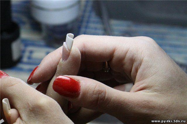 Как сделать коррекцию за гелевыми ногтями
